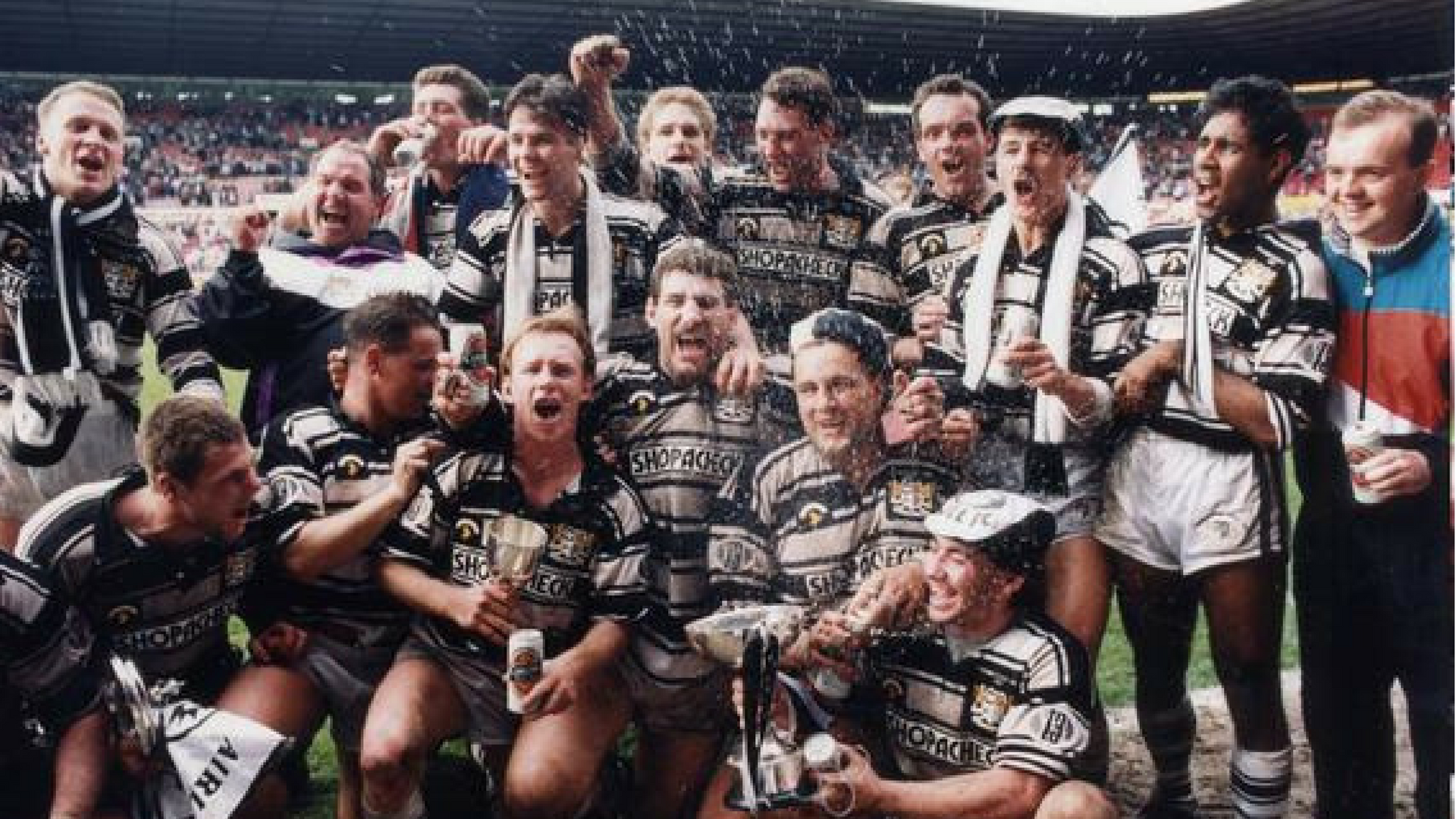 Hull FC won their only Premiership title in 1991 against Widnes at Old Trafford.