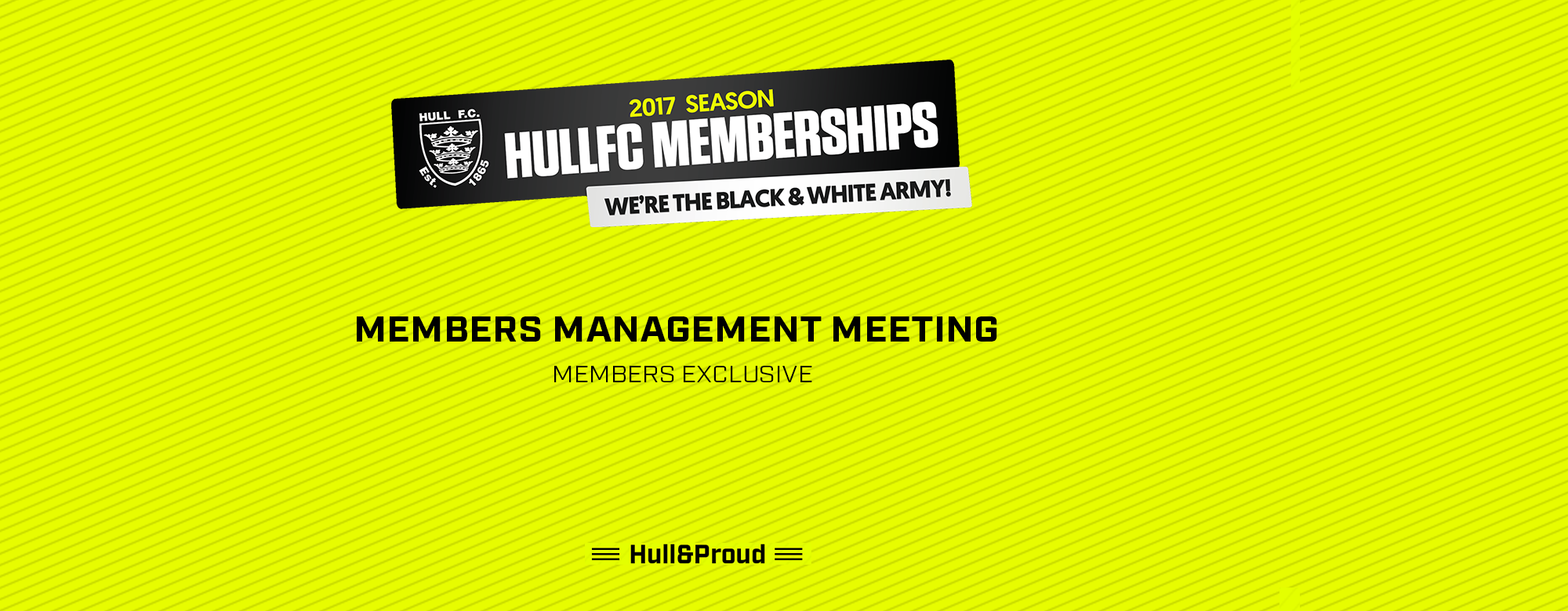 Meet the Chairman at This Month's Members Management Meeting!
