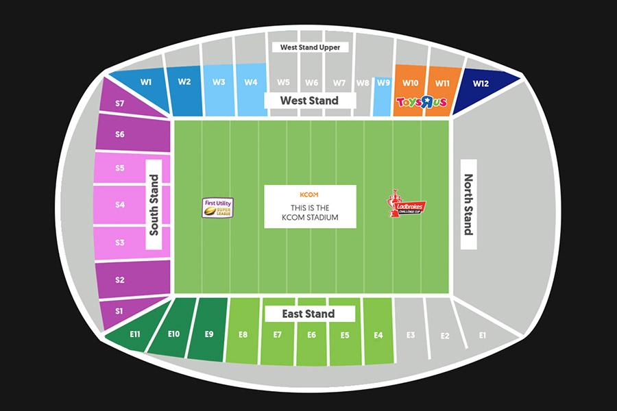 Stadium Plan Hull Fc